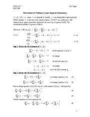 Normal Equations Proof