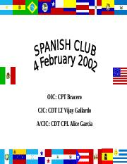 Spanish Club Events