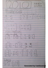 Matrices Class Notes