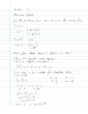 College Algebra Notes - 1.3 - Absolute Value Equations