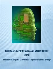 INFORMATION PROCESSING AND NATURE OF THE MIND (2)