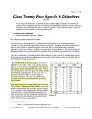 Class Twenty Four Notes