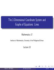 A10 - Graphs of Equations, Lines