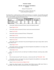 BIT 2406, Teets, fall 2014, Worksheet 3 with solution