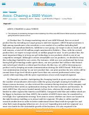 Asics: Chasing a 2020 Vision - Essay.pdf