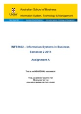 INFS1602 - Information Systems in Business S2 2014 - Assignment A.pdf