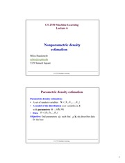 Lecture Notes F on Machine Learning