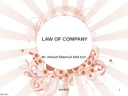 Topic 5 - Company Law
