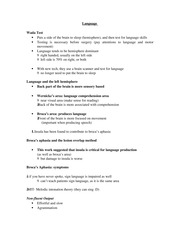 PSYCH 207 Language Notes