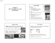 Chapter 7 - Soil, Agriculture, and Food