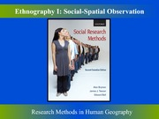 Ethnography Part One Social Spatial Observation