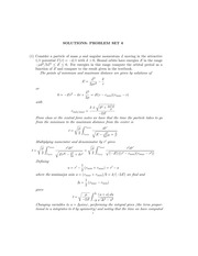 PHYS 3003 Spring 2015 Assignment 6 Solutions