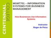 Class 2 - How Businesses Use Information Systems w16