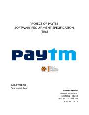 SDS1 - SOFTWARE DESIGN DESCRIPTION DOCUMENT PAYTM By CH
