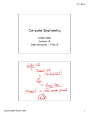 Lecture 14 Data Structures 7 Feb 14 annotated