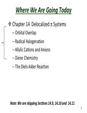 Slides  Chapter 14  Delocalized Pi Systems