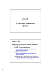Wastewater Characteristics_Quantity