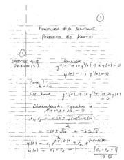 Homework D Solutions on Applied Differential Equations