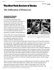The Suffocation of Democracy _ by Christopher R. Browning _ The New York Review of Books.pdf