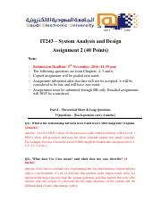 IT 243 Assignment 2- Answer Key