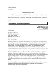 Document Analysis Letter