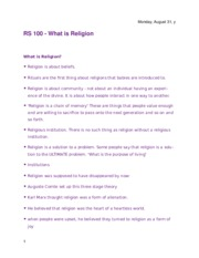 Religion of the East 100 Test Notes