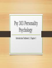 Psy 303 Personality Psychology Introduction (1)