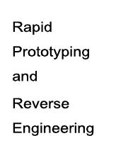 2.9 Rapid Prototyping And Reverse Engineering