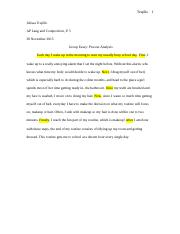 Group essay process analysis