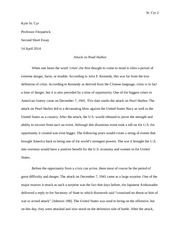 Attack on Pearl Harbor Essay