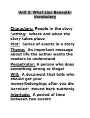 Read 180 What lies beneath Vocab Unit 2.docx