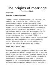 The origins of marriage.docx