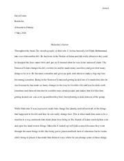 Malcolm x chapter10-17 essay- David Jones.pdf