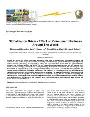 Globalization Effects on Consumer