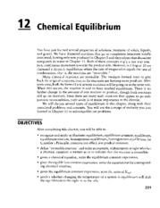Chapter 12 Chemical Equilibrium_OCR