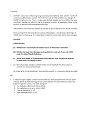 Chapter 4 Contract of guarantee and indemnity  tutorial Q