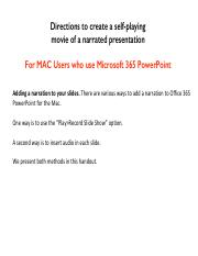 Module 6 Mac Office 365 narrated powerpoint copy