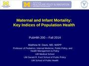 infant mortality lecture