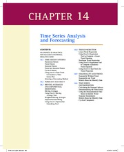 Essentials of Modern Business Statistics Chapter 14