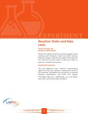 42-0195-00-02-EXP, Reaction Order and Rate Laws