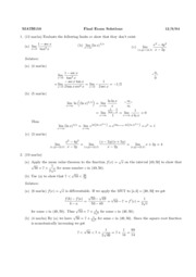 04Final Exam Solutions