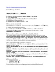 HF420-WineListEvaluation