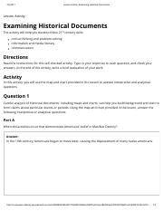S Simington History11A Examining Historical Documents Unit 1