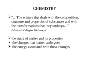 Chapter 01 - Keys to the Study of Chemistry Handout