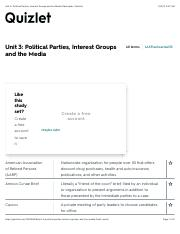 Unit 3: Political Parties, Interest Groups and the Media Flashcards | Quizlet.pdf