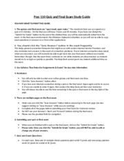 Psyc110 Quiz & Final Exam Study Guide