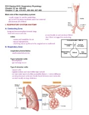 Complete P215 notes: Respiratory