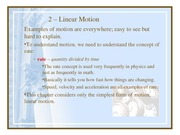 PC Physics 2 Linear Motion.ppt