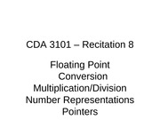 CDA3101-Fall2011-Recitation08