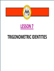 Math12-1_Lesson 7_Trigonometric Identities